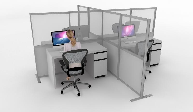 Protective screens for offices